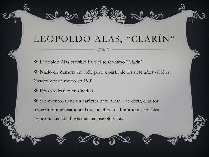 Leopoldo alas clar n