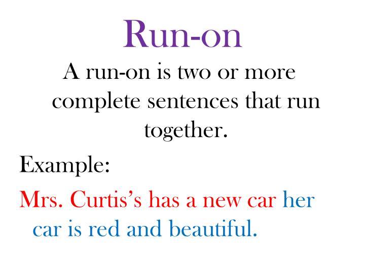 Run-on