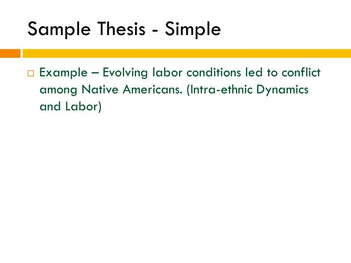 Sample Thesis - Simple