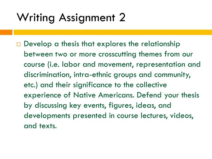 Writing Assignment 2