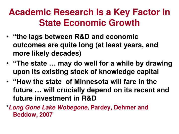Academic Research Is a Key Factor in State Economic Growth