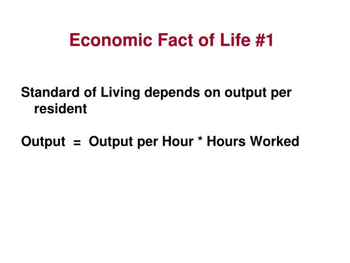 Economic Fact of Life #1