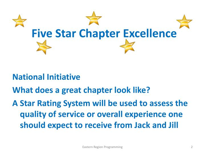 Five star chapter excellence