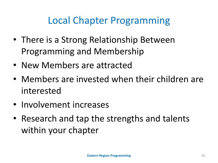 Local Chapter Programming