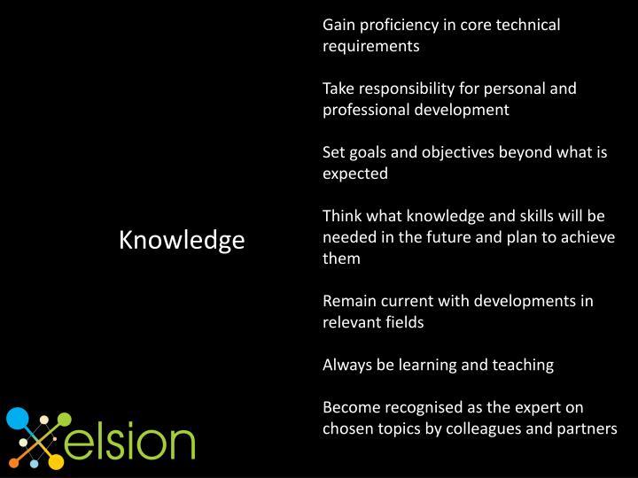 Gain proficiency in core technical