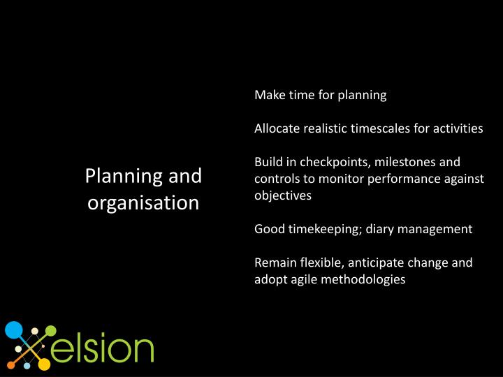 Make time for planning