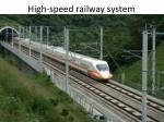 high speed railway system