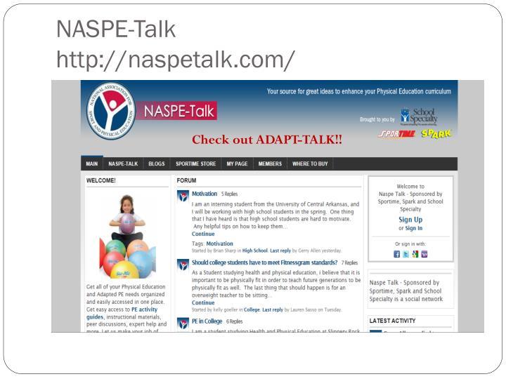 NASPE-Talk