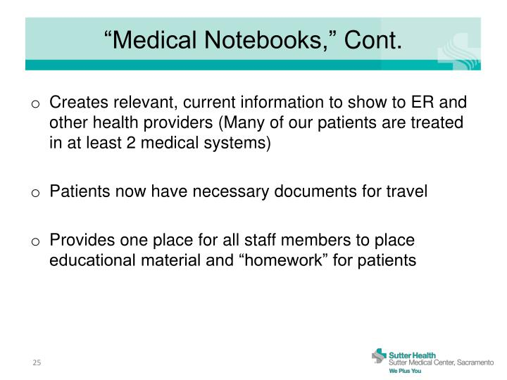 """Medical Notebooks,"""