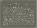 mes mission statement