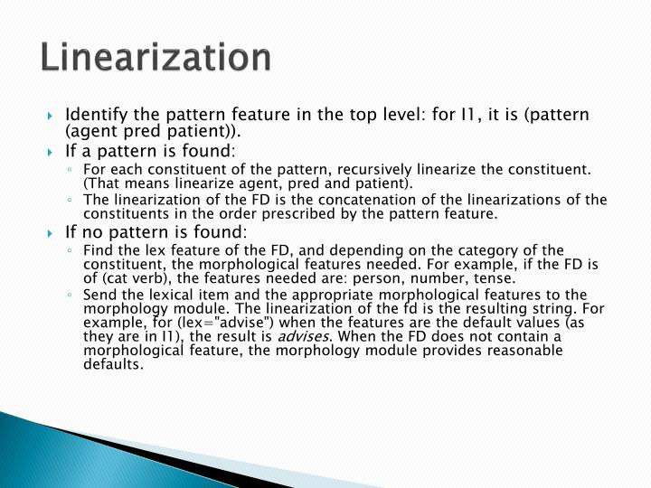 Linearization