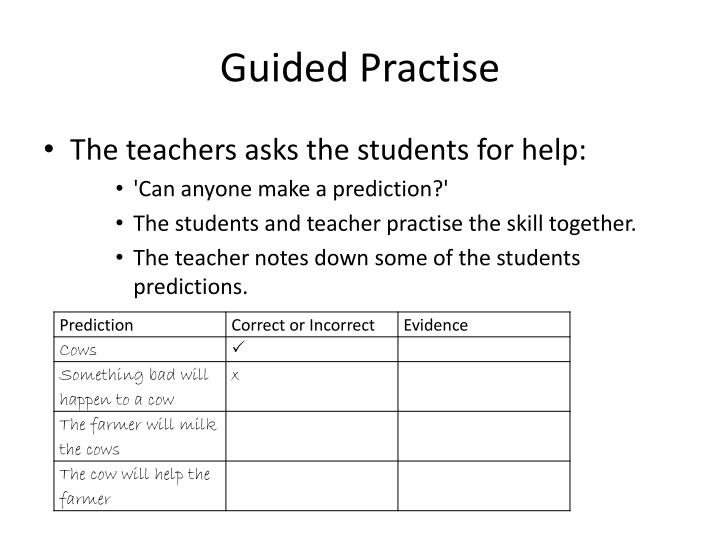 Guided Practise
