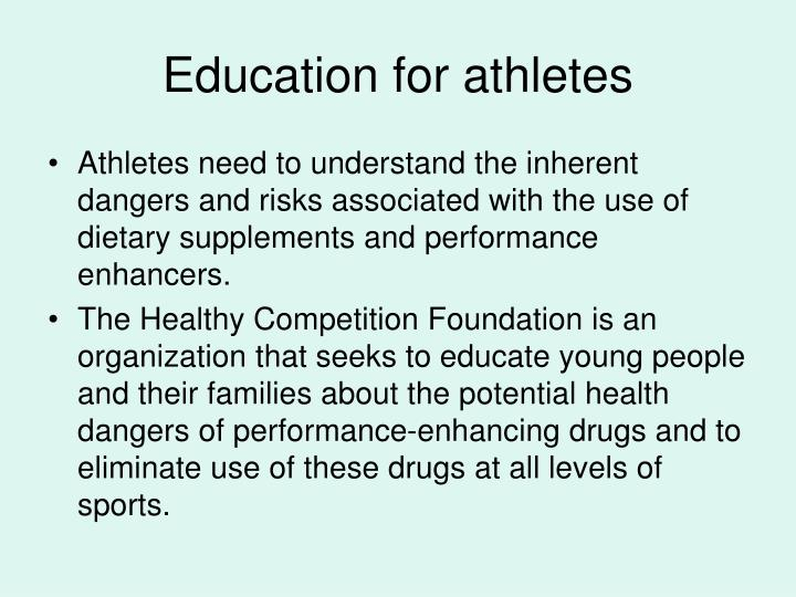 Education for athletes