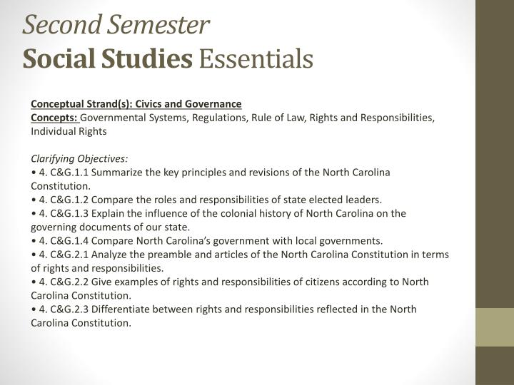 Conceptual Strand(s): Civics and Governance