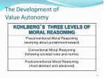 the development of value autonomy1