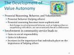 the development of value autonomy2