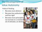 the development of value autonomy3