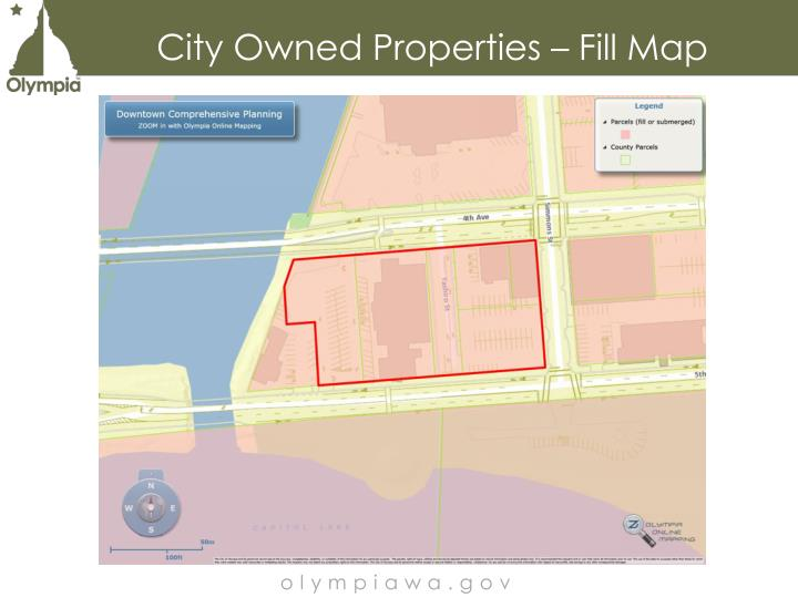City Owned Properties – Fill Map