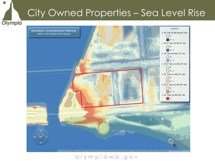 City Owned Properties – Sea Level Rise