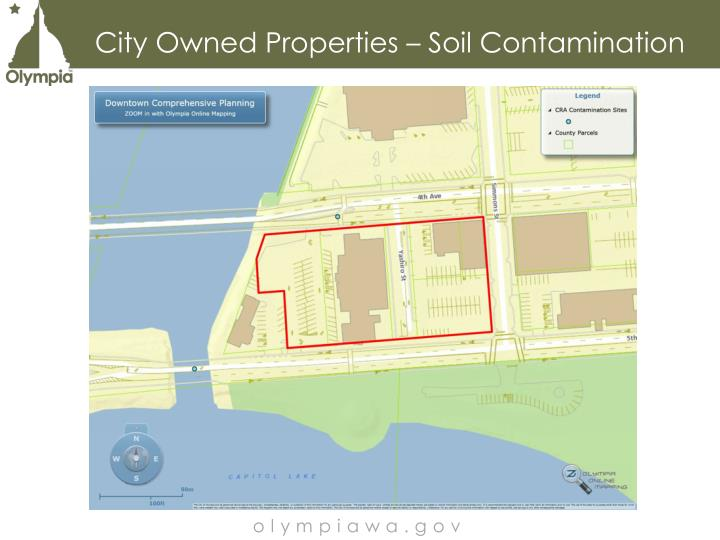 City Owned Properties – Soil Contamination