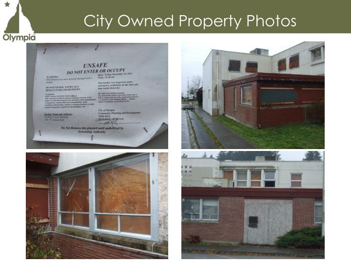 City Owned Property Photos