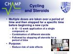cycling and steroids