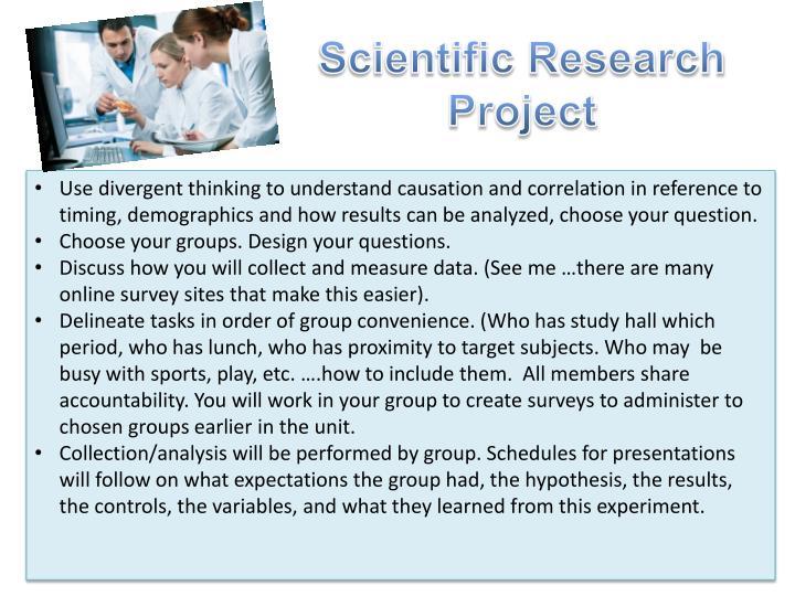 Scientific Research Project