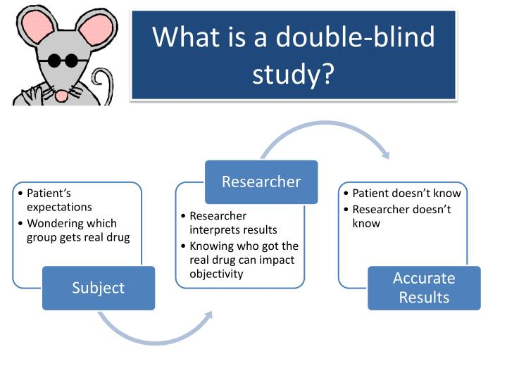 What is a double-blind study?