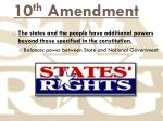 10 th amendment
