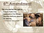 6 th amendment