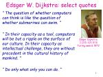 edsger w dijkstra select quotes