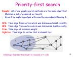 priority first search