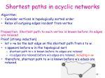 shortest paths in acyclic networks1