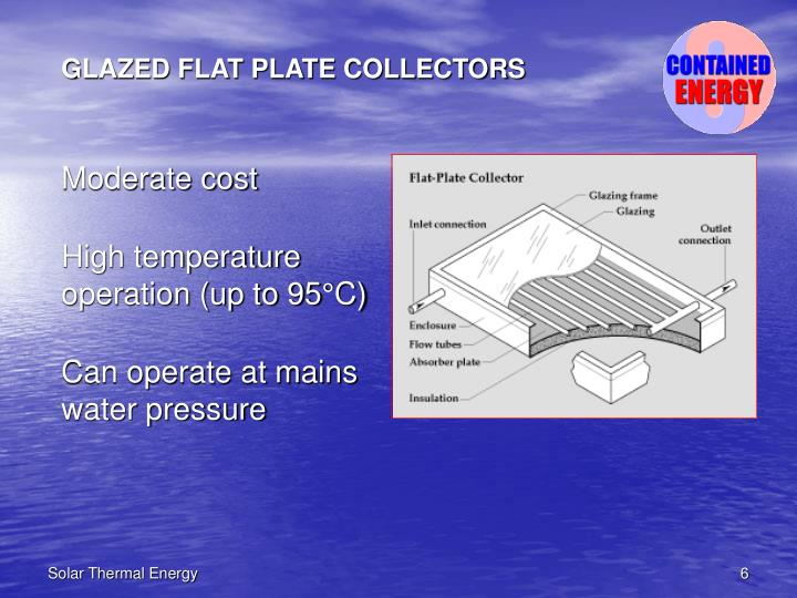 GLAZED FLAT PLATE COLLECTORS