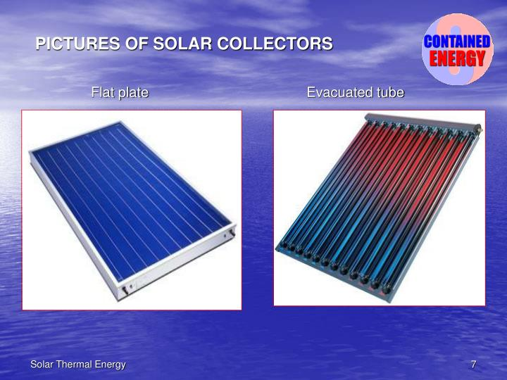 PICTURES OF SOLAR COLLECTORS
