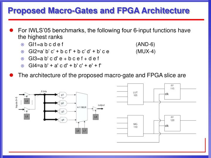 Proposed Macro-Gates and FPGA Architecture