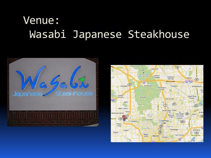 Venue wasabi japanese steakhouse