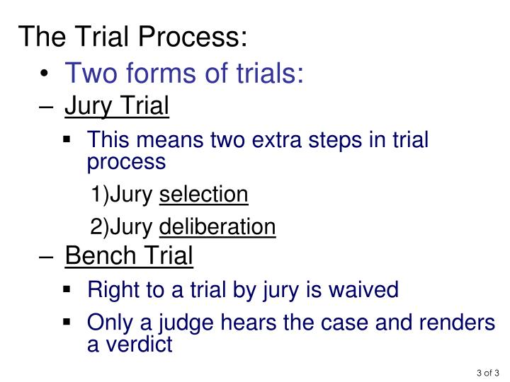 The Trial Process: