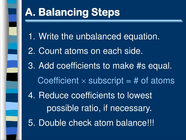 A balancing steps