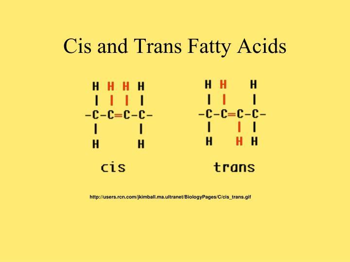 Cis and Trans Fatty Acids
