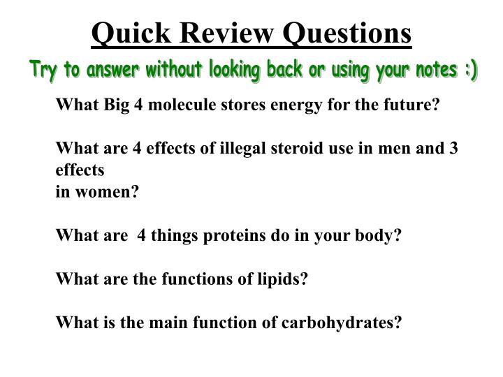 Quick Review Questions