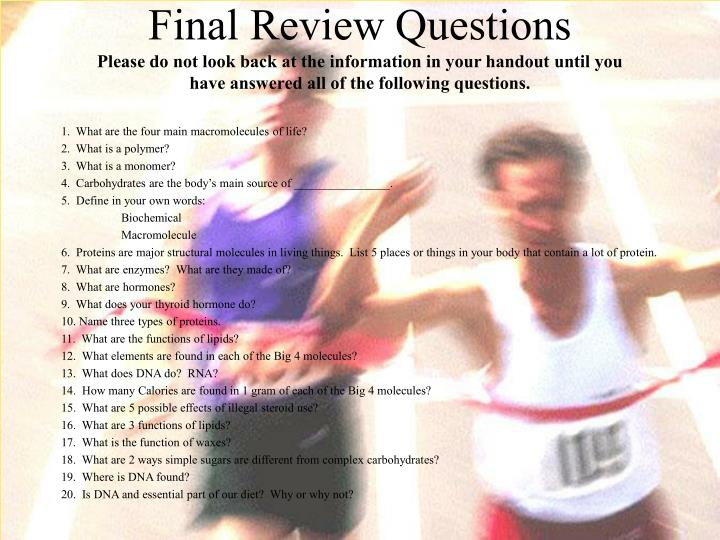 Final Review Questions