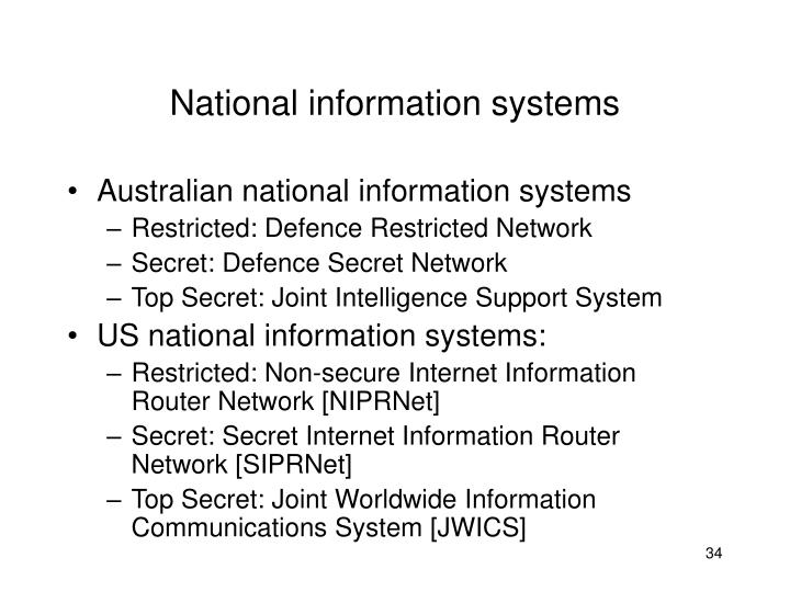 National information systems
