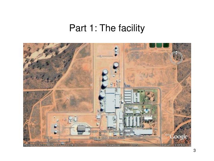 Part 1: The facility