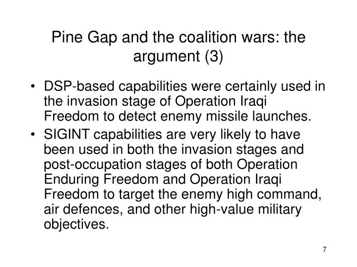 Pine Gap and the coalition wars: the argument (3)