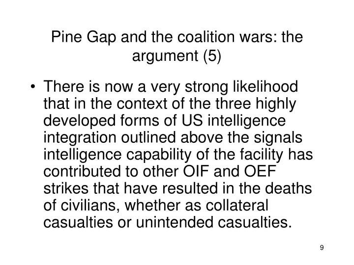 Pine Gap and the coalition wars: the argument (5)