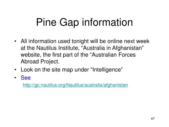 Pine Gap information