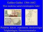 galileo galilei 1564 1642