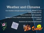 weather and climates