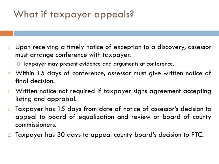 What if taxpayer appeals?